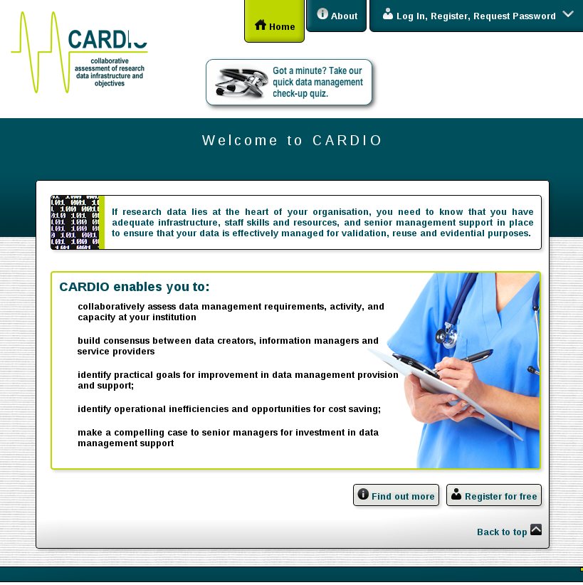 CARDIO Guest Home Page